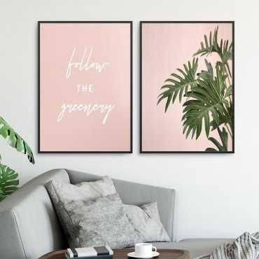 Zestaw dwóch plakatów - Follow the greenery