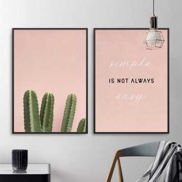 Zestaw dwóch plakatów - Simple is not always easy