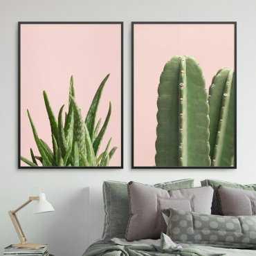 Zestaw dwóch plakatów - Pink Nature