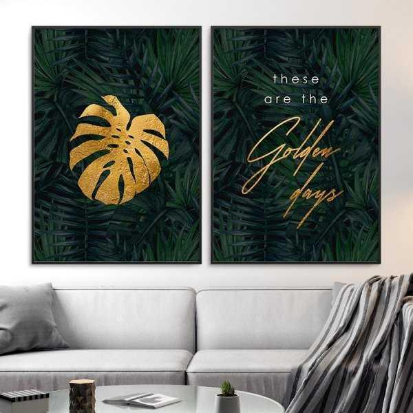 Zestaw dwóch plakatów - Golden Days