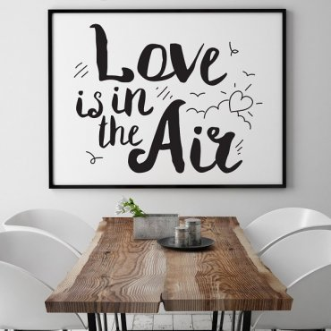 Love is in the air - Plakat typograficzny