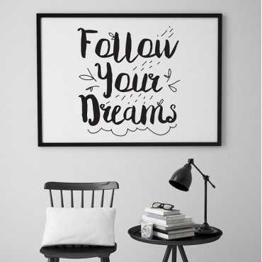 Follow your dreams - Plakat skandynawski