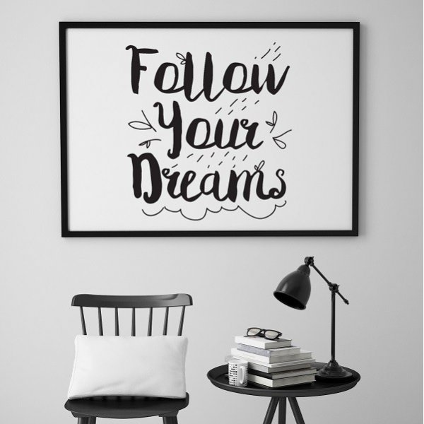 Follow your dreams - Plakat skandynawski