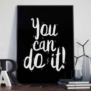 You can do it - Plakat typograficzny