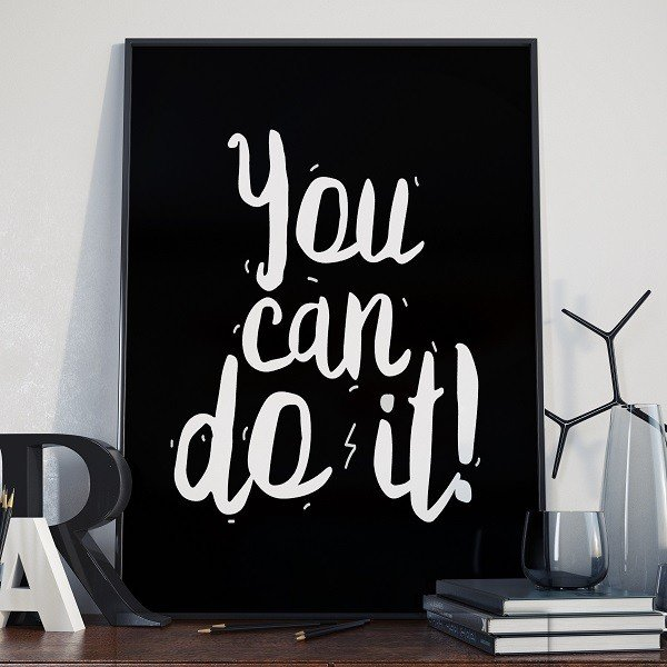You can do it - Plakat typograficzny
