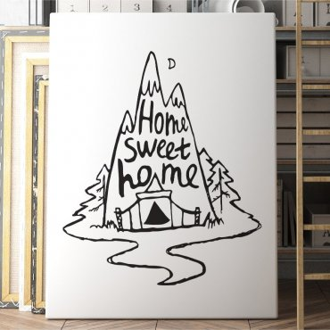 Obraz na płótnie - HOME SWEET HOME ART