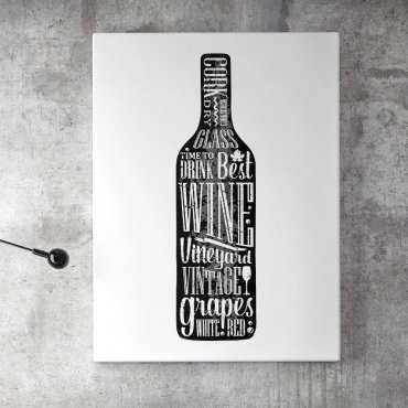 Obraz na płótnie - WINE DESIGN