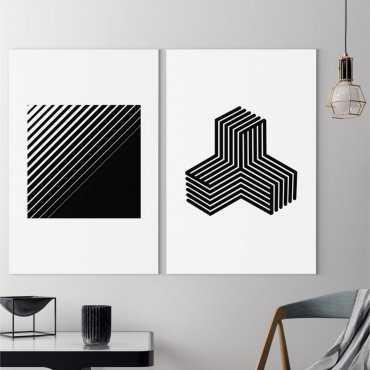 Zestaw dwóch obrazów - MINIMALIST SHAPES