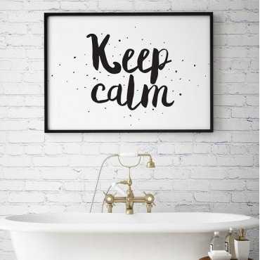 Keep calm - Plakat typograficzny w ramie