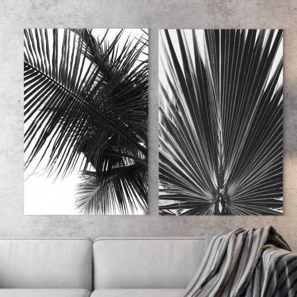 Zestaw dwóch obrazów - MODERN PALMS