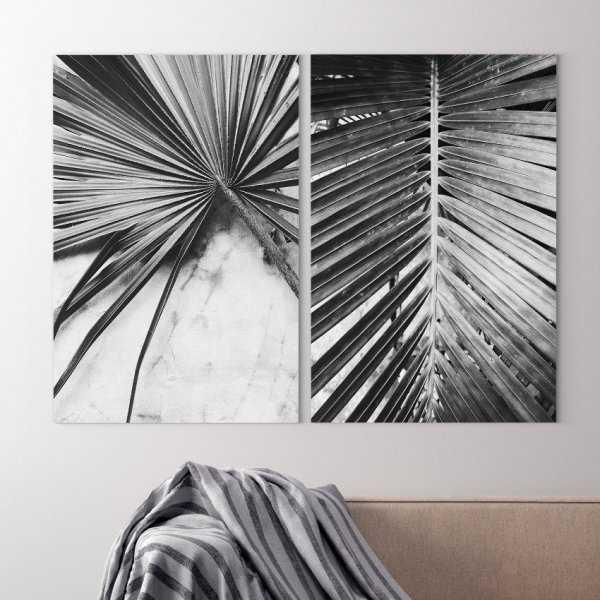 Zestaw dwóch obrazów - TROPICAL SKELETON