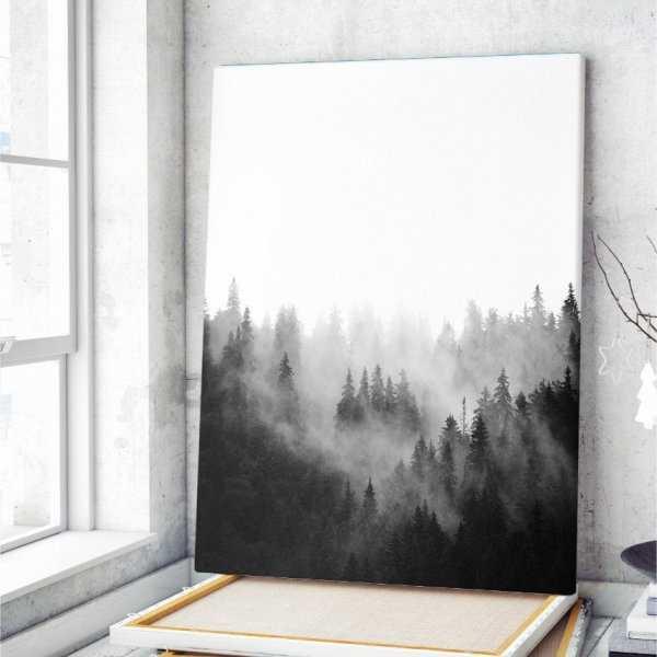 Obraz na płótnie - MISTY FOREST