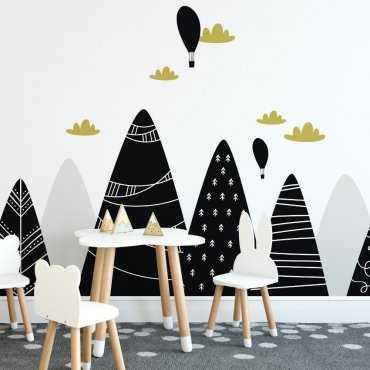 Tapeta dziecięca - BLACK MOUNTAINS