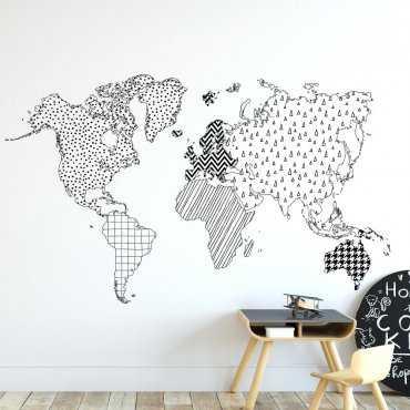 Tapeta dziecięca - CUTE WORLD MAP
