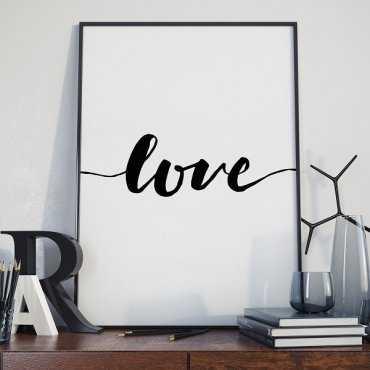 Love - Plakat w stylu skandynawskim
