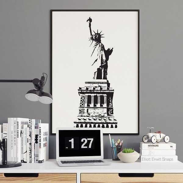 Statua wolności - Plakat w stylu vintage