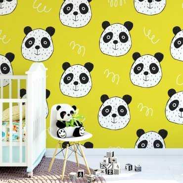 Tapeta dziecięca - LEMON PANDA