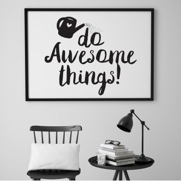 Do awesome things! - Plakat typograficzny