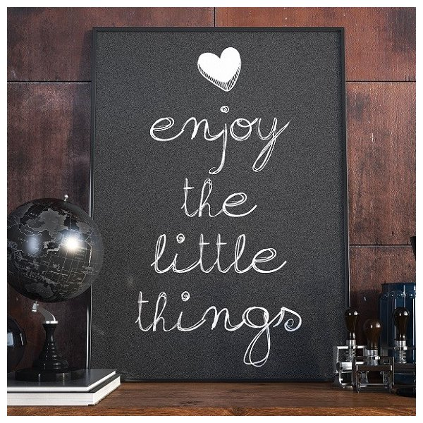 Enjoy the little things - Plakat designerski