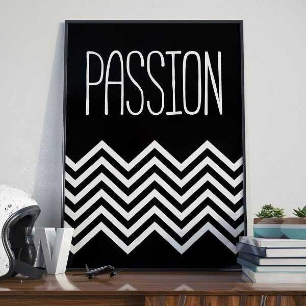 PASSION - Designerski plakat na ścianę