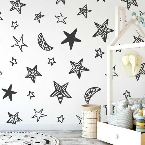 Tapeta dziecięca - STARS ART