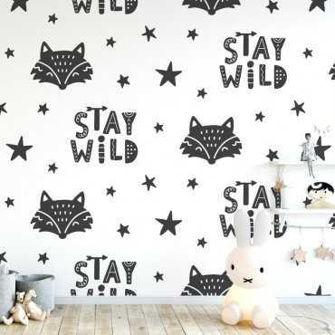 Tapeta dziecięca - STAY WILD FOX