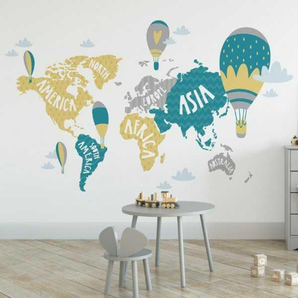 Tapeta dziecięca - SCANDI MAP