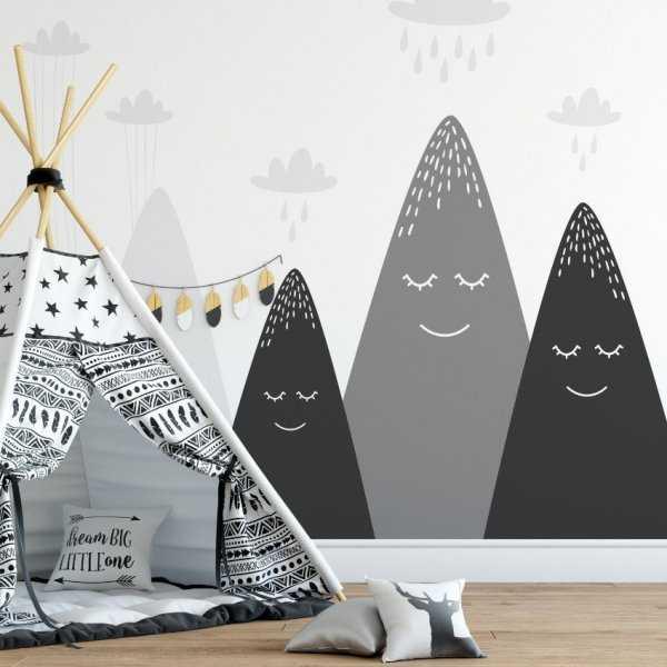 Tapeta dziecięca - RAINY MOUNTAINS