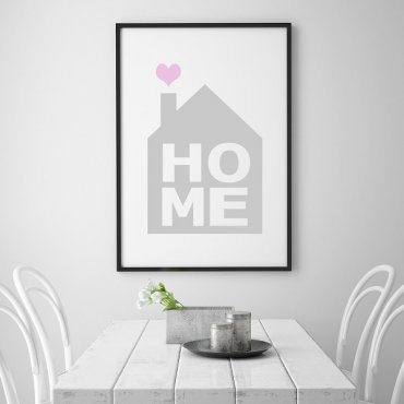 HOME - Designerski plakat na ścianę