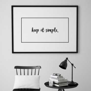KEEP IT SIMPLE. - Skandynawski plakat minimalistyczny