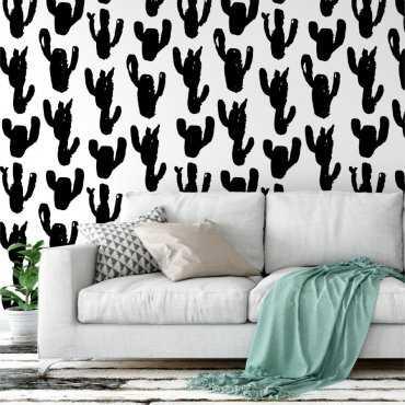 Tapeta na ścianę - BLACK CACTUS