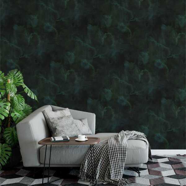 Tapeta na ścianę - BOTTLE GREEN SHADOW
