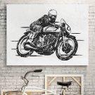 VINTAGE MOTORBIKE - Obraz na płótnie