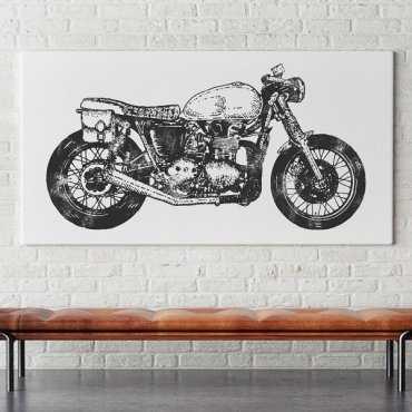 RETRO MOTOR - Obraz na płótnie
