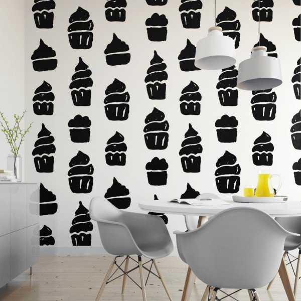 Tapeta na ścianę - CUPCAKE SHADOW