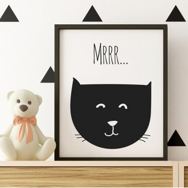 Kotek Mrrr...  - Plakat dziecięcy