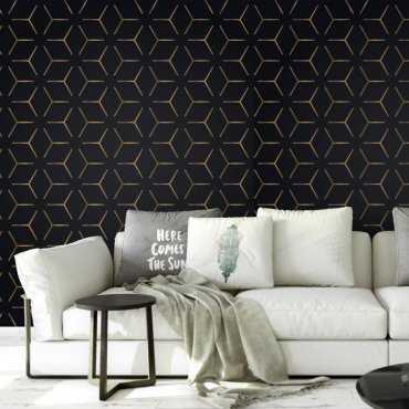 Tapeta na ścianę - CUBIC GOLD