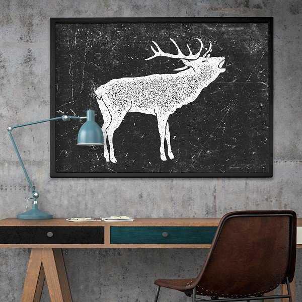 Skandynawski Jeleń - Designerski plakat w ramie