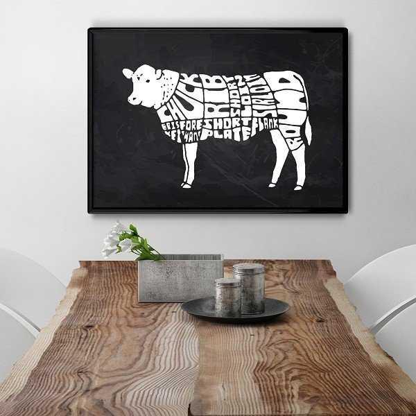 Wołowina Krowa - Designerski plakat do kuchni lub jadalni