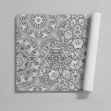 Tapeta na ścianę - FLOWERS MOSAIC
