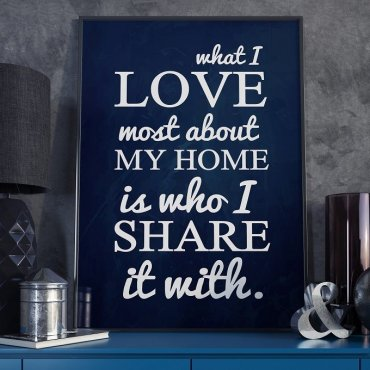 WHAT I LOVE ABOUT HOME - Plakat Typograficzny
