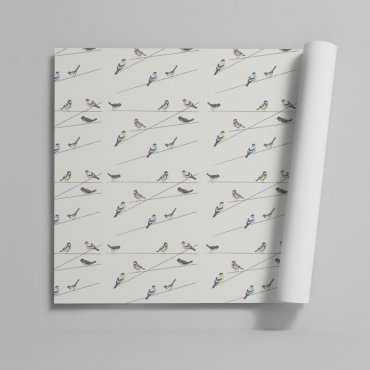 Tapeta na ścianę - GARDEN BIRDS