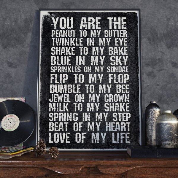 YOU ARE THE PEANUT TO MY BUTTER - Plakat Typograficzny