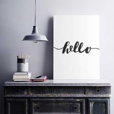 HELLO - Minimalistyczny obraz na płótnie