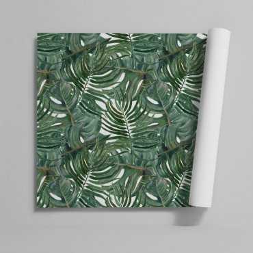 Tapeta na ścianę - JUNGLE LEAVES