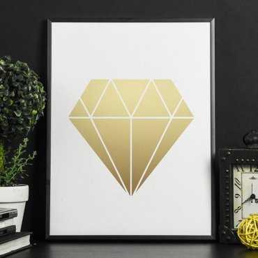 Złoty Diament - Plakat w ramie