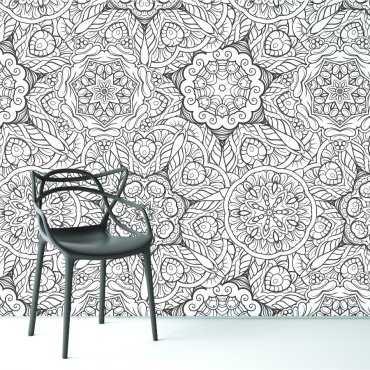 Tapeta na ścianę - MURAL FLOWERS