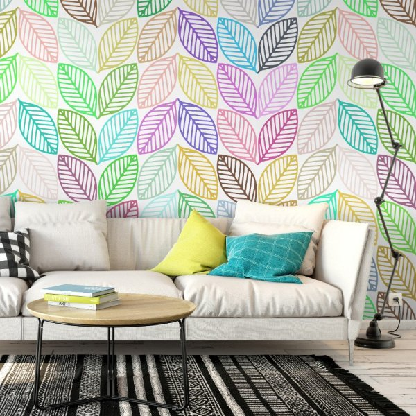 Tapeta na ścianę - RAINBOW LEAVES