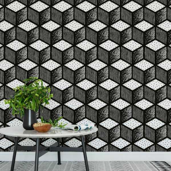 Tapeta na ścianę - SKETCHY BLOCKS