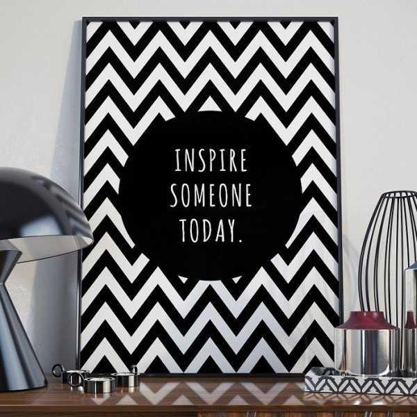 INSPIRE SOMEONE TODAY - Plakat Typograficzny